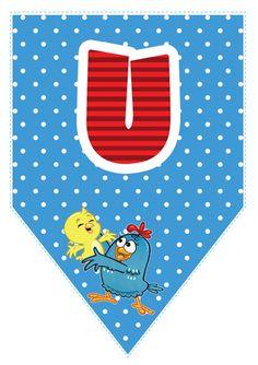 Bandeirinhas da Galinha Pintadinha com o alfabeto, números e acentos para imprimir. Lottie Dottie, Ideas Para Fiestas, Kids Rugs, Printables, Letters, Birthday, Party, Crafts, Amanda