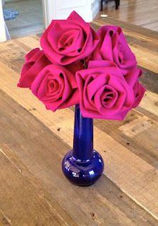 Felt roses tutorial