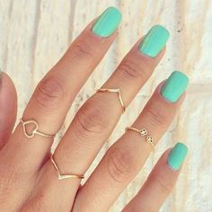 love the nail color and rings