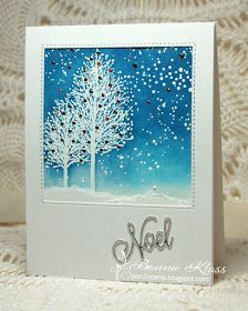 Stamping with Klass: Snow Dust for CAS Christmas Black Christmas Trees, Simple Christmas Cards, Christmas Gift Tags, Christmas Greeting Cards, Xmas Trees, Christmas 2019, Winter Christmas, Xmas Cards To Make, Penny Black Cards
