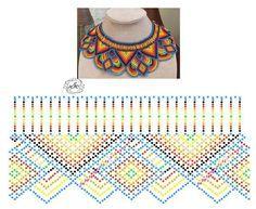 Photo Design Net, Necklace Tutorial, Beaded Jewelry Patterns, Peyote Patterns, Loom Weaving, Beading Tutorials, Crochet Necklace, Jewelry Making, Beads