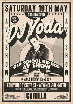 New school, old school hip hop poster...
