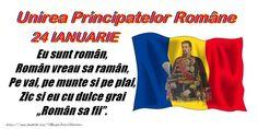 Felicitari de 24 Ianuarie - Traiasca Unirea! 24 ianuarie 1859 - mesajeurarifelicitari.com Romania, 1 Decembrie, School, Fii, Folklore