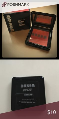 Buxom Blush New with box! Buxom true hue blush in the shade Breathless which is a gorgeous coral pink. Very flattering. Product has been swatched. Buxom Makeup Blush