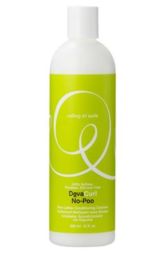 Finally tried this! If you get past the idea that shampoo is supposed to lather, this makes hair super curly and soft (first all natural shampoo I actually approve of)-DevaCurl 'No-Poo™ Zero Lather' Conditioning Cleanser