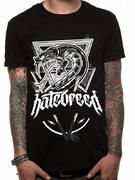 Officially licensed Hatebreed t-shirt design printed on a Black 100% cotton short sleeved T-shirt.