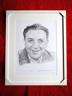 Martin Gregor, portrét v ráme. Dušan Dudo Hanes