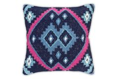 Kilim 20x20 Cotton-Blended Pillow, Multi