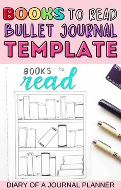 Keep track of your to-be-read list with this bullet journal books to read template! #bulletjournaltracker #TBR Bullet Journal Tracker, Bullet Journal Printables, Bullet Journal Mood, Journal Template, Bullet Journal Inspiration, Books To Read Bullet Journal, Creating A Bullet Journal, Bullet Journal For Beginners, Book Journal
