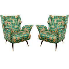 Pair of  Gio Ponti Club Chairs