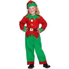 Santas Helper Child Large Age 9-12 Unisex Christmas Fancy Dress Elf Costume