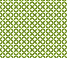 Diamond Flower - Granny Smith fabric by brownpaperpackages on Spoonflower - custom fabric