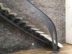 Création jean-luc Chevallier pour La Stylique Escalier Design, Art Nouveau, Design Art, Stair Design, Contemporary Furniture, Modern Interior, Projects