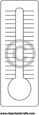 termometer coloring page