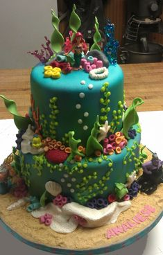 Ariel The Little Mermaid Cake...this is what I am going to attempt to make for kenli's birthday