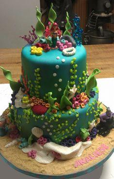 The little mermaid cake! I think I really like Disney cakes.....