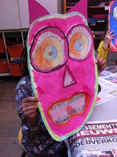 Monstermaskers maken n.a.v Max en de maximonsters