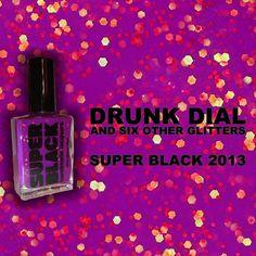 SUPER BLACK Lacquers - Glitter, Holographic & Solid Nail Polish