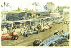 Geo Ham : Pit Stop during a Grand Prix, 1949