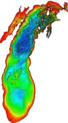 Lake Michigan Depth Map