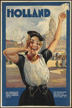 Holland vintage travel poster