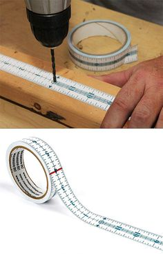 Measure-It Adhesive Measuring Tape - never mess up your measurements again #product_design