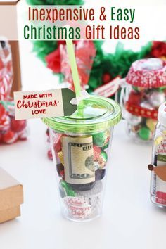 Cute Homemade Christmas Gift Ideas (Inexpensive and Easy). Looking for cheap u0026 easy Christmas gift ideas from friends and family? Weu0027ve crafted some of the ... & Cute Homemade Christmas Gift Ideas (Inexpensive and Easy) | gifts ...