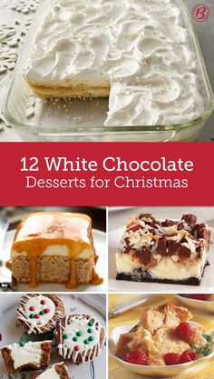 We love white chocolate desserts around the holidays. Pretty like snow and decadent in taste, it's the perfect time of year to bake with white chocolate. Here are our favorite recipes that will have you dreaming of a white Christmas.