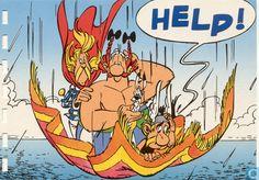 Carte postale - Bande dessinée: Asterix - Asterix en Obelix