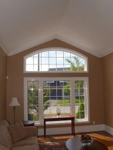 Love the window with the vaulted ceiling and the crown molding!