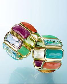 Ippolita 18k Rock Candy Fancy Rectangle Lollipop Ring