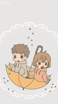 ┗┃kisawa┃┓【sundo ni naru】『alice cafe』●F. Cute Chibi Couple, Cute Couple Art, Anime Love Couple, Cute Anime Couples, Cute Couple Drawings, Pretty Drawings, Kawaii Drawings, Cute Anime Chibi, Cute Anime Pics