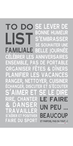 Affiche adhésive - Sticker géant - Poster autocollant To Do List