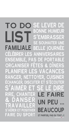 Affiche adhésive - Sticker géant - Poster autocollant To Do List