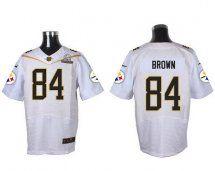 Pittsburgh Steelers #84 Antonio Brown White 2016 Pro Bowl