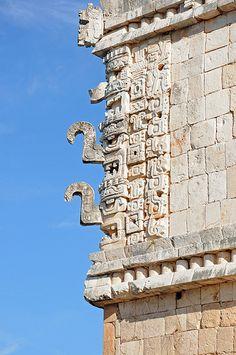 Mayan Glyphs, Uxmal, Yucatan, Mexico | Oliver Davis via Flickr