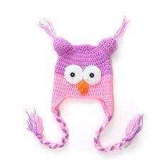 Handmade Baby Animal Owl Beanie Child Photo Crochet Knit Costume Hat Cap Pro