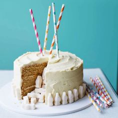 Martha's malted milk piñata cake