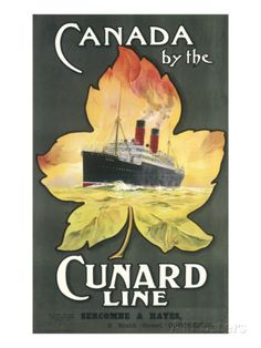 Canada by the Cunard Line Poster Giclee Print