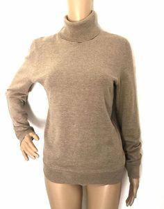 Lauren by Ralph Laure Brown Turtleneck Pullover - Size L - EUC #LaurenRalphLauren #Turtleneck