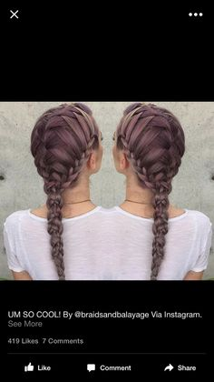 How To  Pull Through Pony into Fishtail   Events   Hair   Pinterest     A waterfall braid down the center with lace braids at the sides  all into a  fun braid