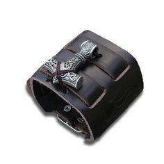 Bracelet Acier Et Cuir Homme Bracelet Viking, Thors Hammer, Vikings, Bracelets, Stark, Bags, Form, Products, Viking Jewelry