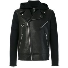 Neil Barrett Men's Black Leather Outerwear Jacket ($2,818) ❤ liked on Polyvore featuring men's fashion, men's clothing, men's outerwear, men's jackets, black, mens real leather jackets, neil barrett men's jacket, mens jackets and mens leather jackets