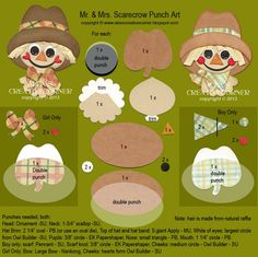 punch art for cards or layouts - Scarecrow