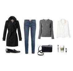 """""""Sans titre #101"""" by unejeunedemoiselle ❤ liked on Polyvore featuring Frame Denim, Burberry, Elia B, 10 Crosby Derek Lam, Serge Lutens and Jaeger-LeCoultre"""