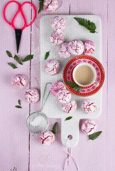 El Blog de Chic Bakery: Crinkle Cookies de frambuesa y chocolate blanco por Sophie Bakery