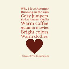Why I love Autumn?