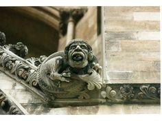 Winchester Cathedral gargoyle, U. K.