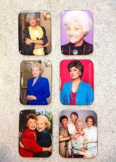 The Golden Girls Magnet Set by PerfectlyPretentious on Etsy, $12.00. Um yeah I need these!!!!