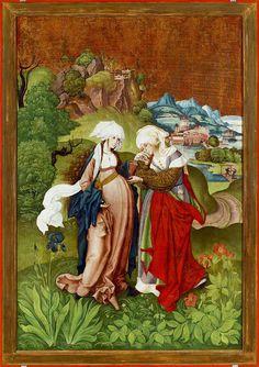 'The Visitation, from Selmecbánya' (1506) by Master MS, Marten Schwartz (circa 1400's - 1500's). Hungarian National Gallery